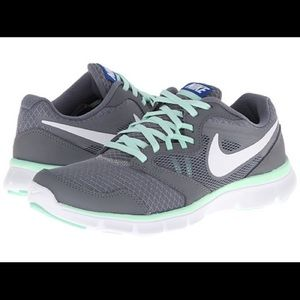 Nike Flex Experience RN 3 Shoes Grey/Mint size 8